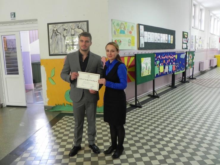 Direktorkata na ucilishteto Ana Shikaleska i zam gen dir na Adora Dushko Cifliganec
